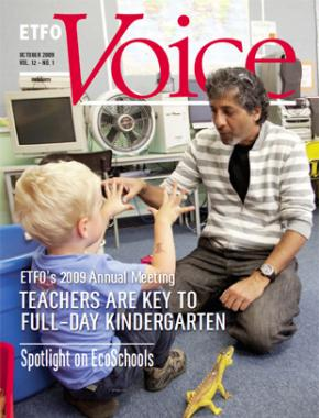 Cover of ETFO Voice October 2009