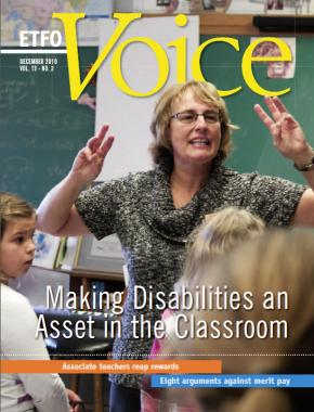 Cover of ETFO Voice December 2010