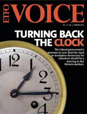 Cover of ETFO Voice Winter 2012