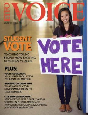 Cover of ETFO Voice Fall 2013