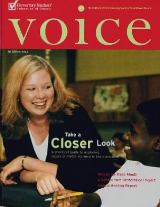 Cover of ETFO Voice Fall 2001