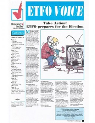 Cover of ETFO Voice Spring 1999