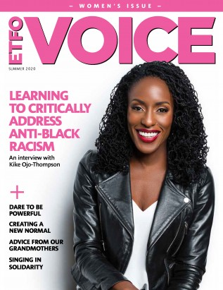 Cover of ETFO Voice Summer 2020
