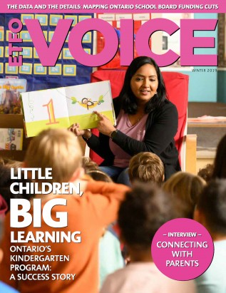 Cover of ETFO Voice Winter 2019