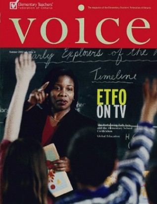 Cover of ETFO Voice Summer 2002