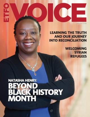 Cover of ETFO Voice Magazine Spring 2016