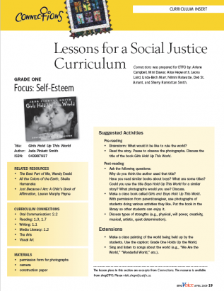 first page of curriculum spring 2009