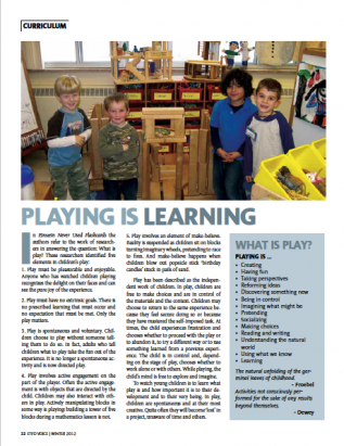 first page of curriculum winter 2012