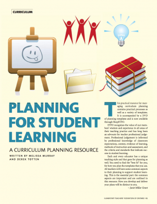 Cover of ETFO Voice Summer 2016 Curriculum guide