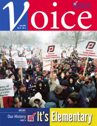 Cover of ETFO Voice June 2007