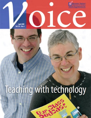 Cover of ETFO Voice April 2008