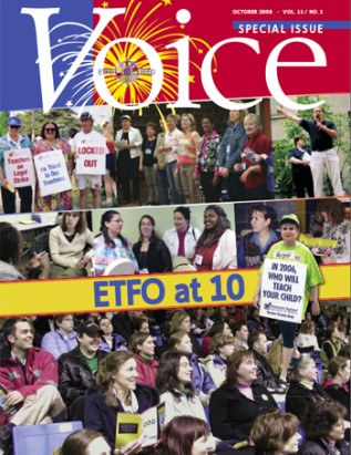 Cover of ETFO Voice October 2008