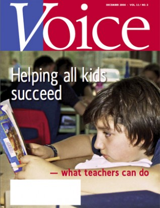 Cover of ETFO Voice December 2008