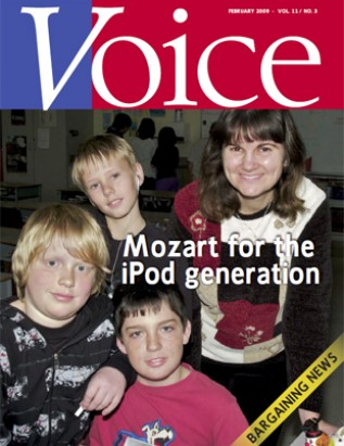 Cover of ETFO Voice February 2009