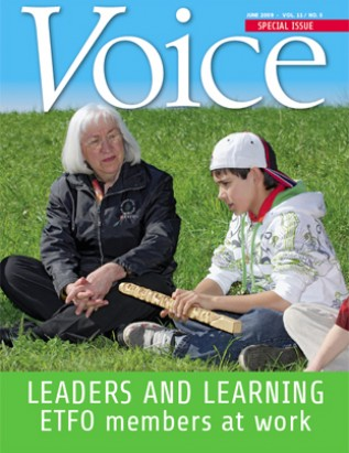 Cover of ETFO Voice June 2009