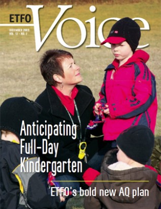 Cover of ETFO Voice December 2009