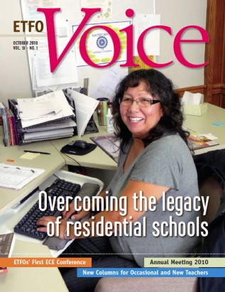 Cover of ETFO Voice October 2010