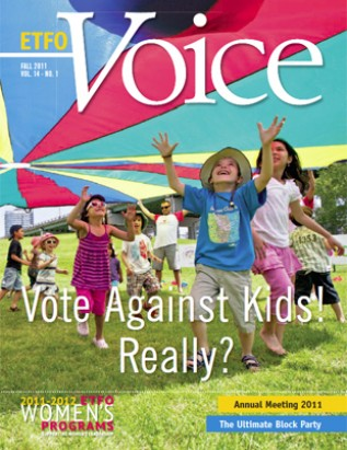 Cover of ETFO Voice Fall 2011
