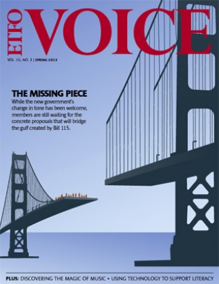 Cover of ETFO Voice Spring 2013