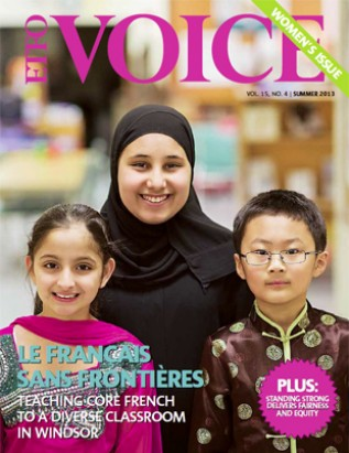 Cover of ETFO Voice Summer 2013