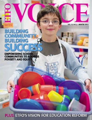 Cover of ETFO Voice Winter 2013