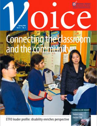 Cover of ETFO Voice Spring 2006