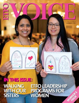 Cover of ETFO Voice Summer 2015