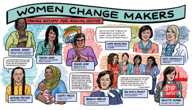 poster for women change makers