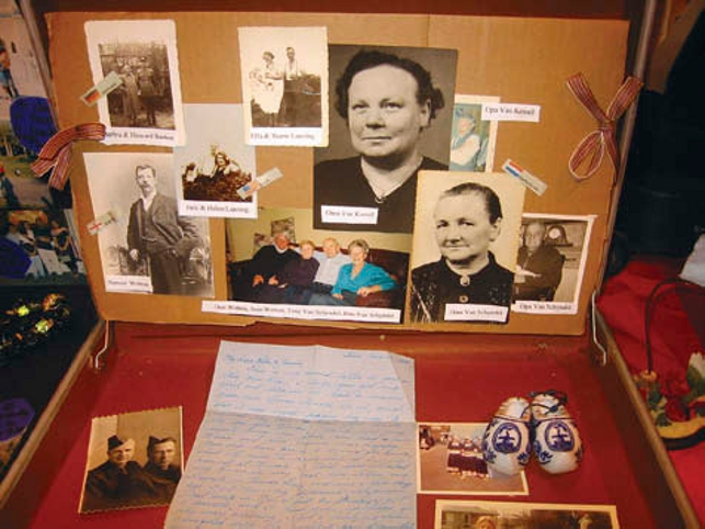 Grade six heritage project with old photographs