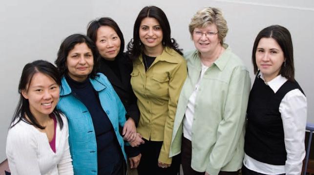 Woman ETFO members posing together