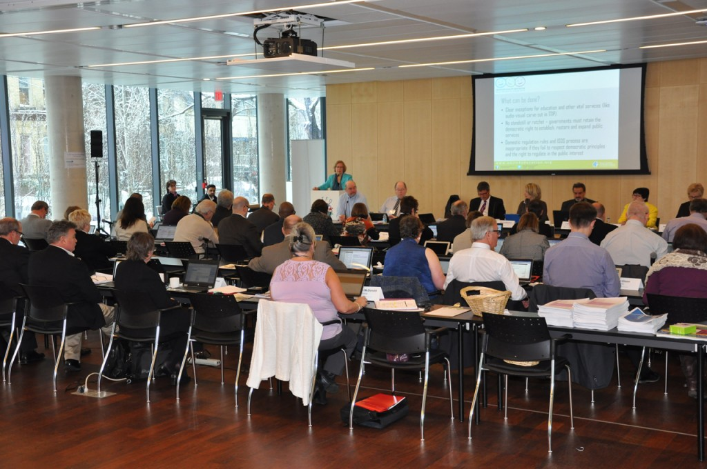 Photo of meeting of Canadian Teachers' Federation's Board of Directors at new location