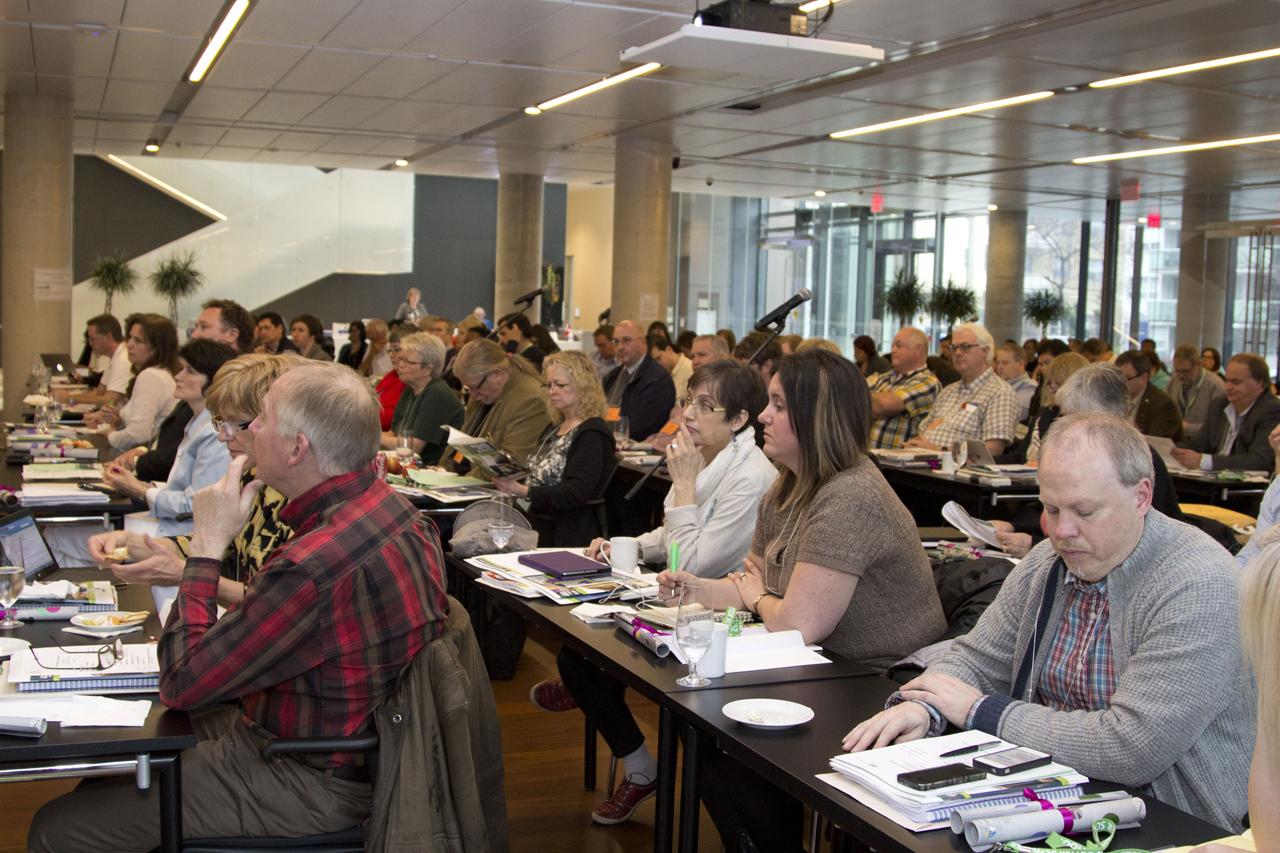 ETFO Members sitting at representative council