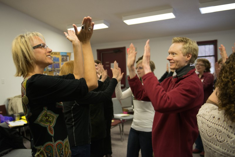 ETFO Members clapping hands
