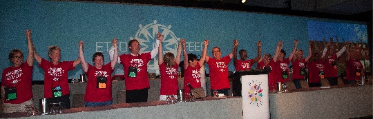 ETFO Members at election ceremony